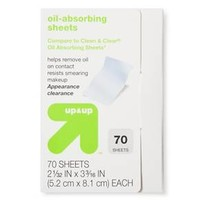 Oil Absorbing Sheets - 70 ct - up & up™