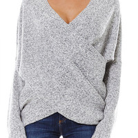 Wrapped in Warmth Sweater - Heather Gray