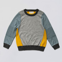 Vierra Rose Lucien Color Blocked Sweater in Yellow - SW2015