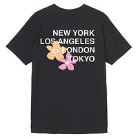 City Flowers T-Shirt Black