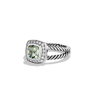 Petite Albion Ring with Prasiolite and Diamonds - David Yurman