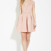 Scuba Knit Fit & Flare Dress | Forever 21 - 2000182236