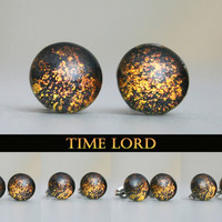 Time Lord Inspired 10mm Post Earrings