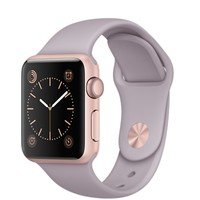 Apple Watch Sport - 38mm Rose Gold Aluminum Case with Lavender Sport Band