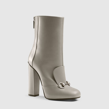 Gucci - leather horsebit ankle boot 363803BYT001419