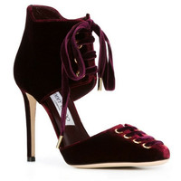 JIMMY CHOO Bordeaux Leather 'Mari 100' booties