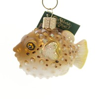 Old World Christmas PUFFERFISH Glass Fugu Delicacy 12495