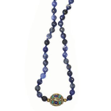 Sodalite Hand Knotted Mala Necklace
