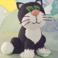 Jess the Cat, Postman Pat's Cat Jess Knitting Pattern PDF instant download