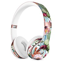 Vintage Watercolor Cactus Bloom Full-Body Skin Kit for the Beats by Dre Solo 3 Wireless Headphones