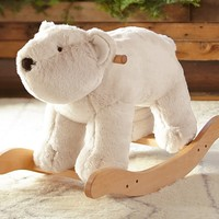 Polar Bear Fur Plush Rocker