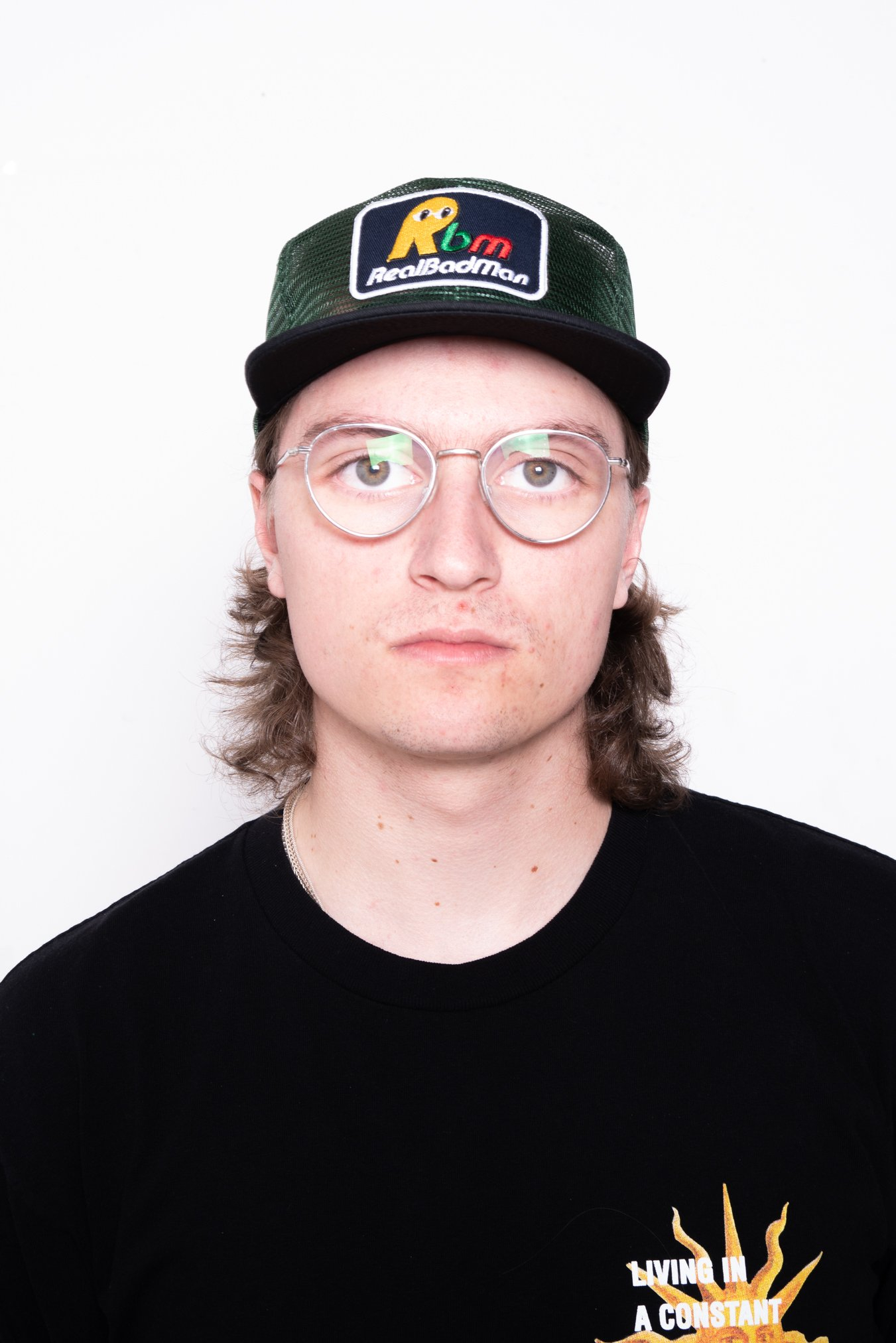 Image of Real Bad Man Nno Mesh 6 Panel Hat In Green/Black