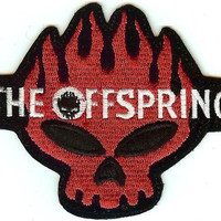 The Offspring Iron-On Patch Red Skull Logo