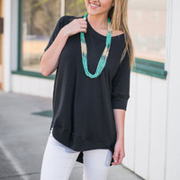 Easy To Lounge Top, Black