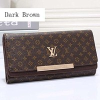 LV Louis Vuitton Women's Premium Leather Multicolor Wallet F