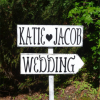 Large Wedding Signs Directional Rustic Wedding Personalized Arrows Outdoor
