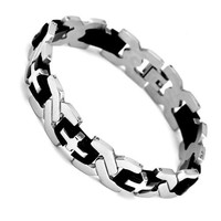Jewelora Punk Resin Stainless Steel Link Chain For Men Sa0165
