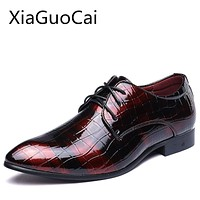 High Quality Men Dress Shoes Office Pointed Toe Formal Shoes American Style Business Leather Shoes for Men Z449 35