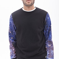 Galaxy Print Sweatshirt Black/Blue