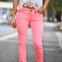 What A Girl Wants Pants: Neon Pink | Hope's