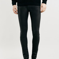 Black Tux Stripe Spray On Skinny Fit Jeans - Last Chance To Buy - Clothing
