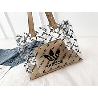ADIDAS x NIKE x LV fashion hot seller two-piece one-shoulder bag with transparent print for women ADIDAS Khaki