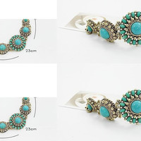 Bohemian Style Turquoise Chain Bracelet