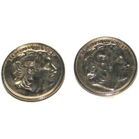 Alexander The Great Coin Clips, Scarf Clips, Tie Clips