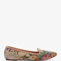 Woven Floral Loafers