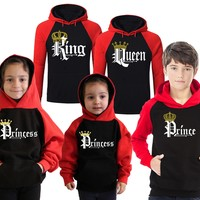 Prince and Princess Hoodie Matching Family Hoodies for King Queen