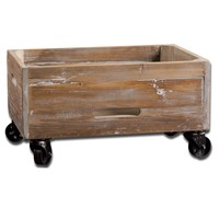 Stratford Reclaimed Wood Rolling Box