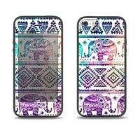 The Tie-Dyed Aztec Elephant Pattern Skin Set for the iPhone 5-5s Skech Glow Case