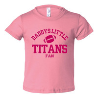 Daddys Little Titans Fan Toddler And Youth T-Shirt Tennessee Fans Printed Tee for Kids Creepers & T-Shirts. Makes a Great Gift!!