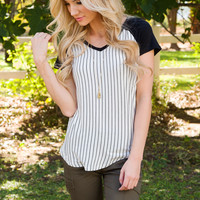 When To Win Stripe Top
