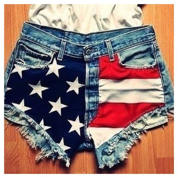 Vintage American Flag Shorts by SheaBoutique on Etsy