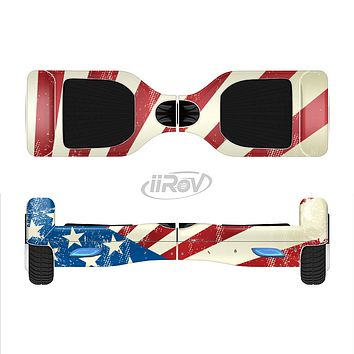 The Vintage Tan American Flag Full-Body Skin Set for the Smart Drifting SuperCharged iiRov HoverBoard