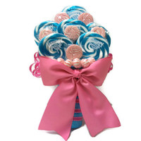 Lollipop Wedding Candy Bouquet (Pink/Blue)