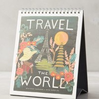 Rifle Paper Co. Travel The World 2016 Desk Calendar in Black Motif Size: One Size Furniture