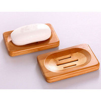 Durable Natural Bamboo Soap Dish Storage Holder Bath Shower Plate Bathroom POP