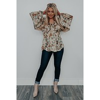 Flower Patches Blouse: Multi