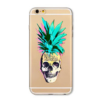 Dying in the Tropics Pineapple Skull Case for IPhone