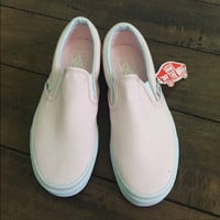 Vans Slip-On Pink Canvas Leisure Shoes