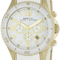 Marc by Marc Jacobs Women's MBM2546 Rock Classic Chronograph White Watch
