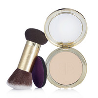 tarte Confidence Creamy Powder Foundation with Double Ended Brush | QVCUK.com