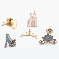 """""""Princess And Her Castle """"Design Very Cute Enamel Alloy Brooch Pin Set Include Princess"""