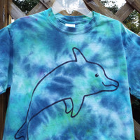 Toddler Dolphin Shirt, Custom Tie dye Dolphin T-shirt, Toddler Tie Dye Shirt, Dolphin Birthday Gift, Dolphin Party, Dolphin Lover, Porpoise