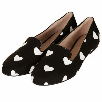 SWOON Heart Print Slippers