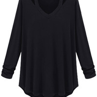 Solid Color Loose-Fitting T-Shirt