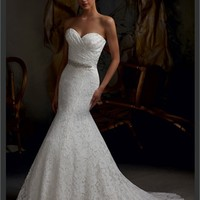 White Mermaid Sweetheart Beading Boned Lace 2013 Wedding Dress IWD0233 -Shop offer 2013 wedding dresses,prom dresses,party dresses for girls on sale. #Category#