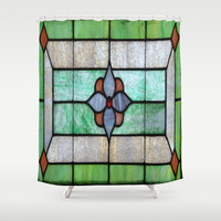 Stained Glass Shower Curtain by Beach Bum Pics